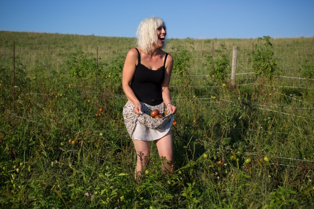 heather tomato skirt