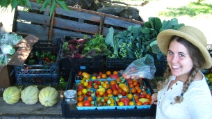 Linsdey packing tomatoes