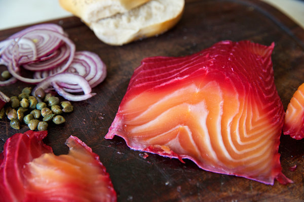 beet-cured-salmon